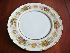 12 Floral High End Royal Doulton Service Plates, Raised Gold, c.1920s
