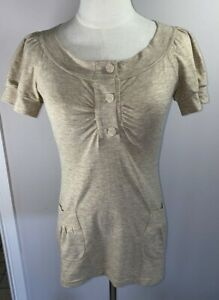 Moss & Spy Gold Top - Size 10 - Preowned - VGC