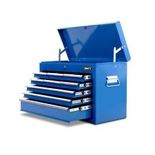 9 Drawers Toolbox Chest Top Home Garage Workshop Loackable Blue