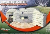 Mirage Bunker Armored Casemate Machine Gun Type 3 Modell-Bausatz 1:35 Normandie