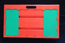 Lego VTG Lap Play Table Tray Desk Sliding Plates RED GREEN take along Storage