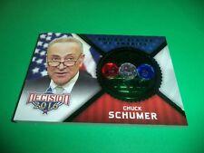 DECISION 2016 SERIES 2 POLITICAL GEMS GREEN FOIL CHUCK SCHUMER PG51