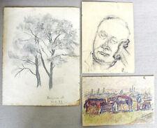 M. Halpern German Jewish expressionist painter. 5 Orig. pencil drawings 1930's