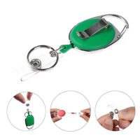 Portable Badge Reel Retractable Pull Keychain Name Tag Card Holder ID Lanyard