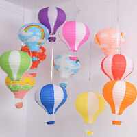 "12"" Kids Hot Air Balloon Paper Lantern Wedding Party Decor Ceiling Light Shade"