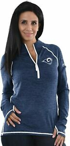 Los Angeles Rams Women's Play Action 1/2 Zip Performance Top Jacket