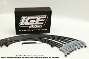 ICE Ignition PRO 100 9 mm Leads - VN to VT Holden V8, STD Dist, HEI Coil