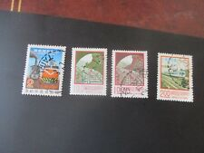 Chine 4 stamp timbres locomotive