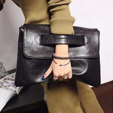 Retro Women PU Leather Handbag Clutch Envelope Shoulder Party Evening Bag Purse