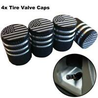 4x American US Flag Car Wheel Dustproof Tire Valve Caps Stems Cover Accessories