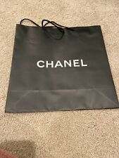 "Authentic Chanel Paper Shopping Bag For Black Gift Packaging 15.5""x15.5""x5"""
