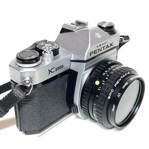 Film Tested! Pentax K1000 35mm SLR Film Camera with 50mm Manual Focus Lens READ!