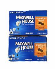 Maxwell House Breakfast Blend Light Roast Coffee Keurig K-CUP- 24 Cups