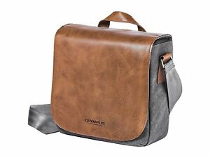 Olympus Mini Messenger Bag for Camera - Leather and canvas