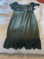 LuLaRoe Cici Dress Large Solod Olive Green NWT