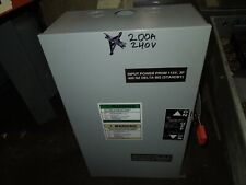 GE TC35324 Mod 9 200A 3ph 3P 240V Double Throw Non Fused Manual Transfer Switch