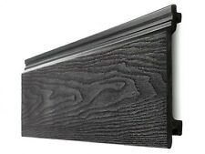 More details for woodgrain wall cladding 3.6m | charcoal | anthracite