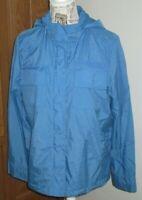 Charter Club Golf Size Medium Blue Hooded Nylon Polyester Mesh Lined Jacket
