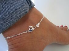 Jewelry & Watches 925 Silber Sternchen Fußkettchen 20-23 Cm Weiß Begrenzte Stückzahl Sommer 2018 Fine Anklets
