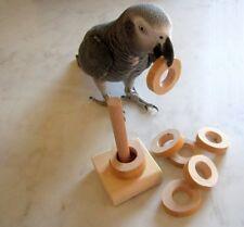 Papageienspielzeug Find The Ring Nature, Lernspielzeug, Denkspielzeug, Natur pur