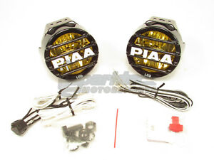 PIAA LP530 LED Ion Yellow Wide Spread Fog Beam Kit Driving Lamp Lights 2500K 8W