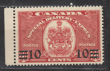 1939 #E9 10¢ ON 20¢ KING GEORGE VI  SPECIAL DELIVERY F-VFNH
