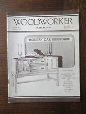 Woodworker Magazine March 1938 Vintage Old Oak Sideboard Card Table Clock Cases