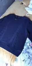 NAVY CABLE JUMPER SIZE 24 M&S BNWT