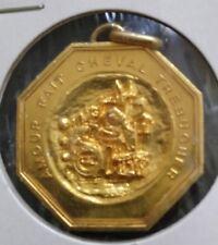 médaille en Bronze doré Amour fait cheval trébucher - BEZOMBES / RB sur tranche