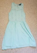 Girls New Look Summer Dress Turquoise Age 12-13/excellent condition