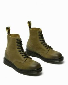 Dr Martens 1460 Made In England Titan Olive Green Boots