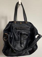 JEROME Dreyfuss BILLY Python Embossed Blue Leather Shoulder Handbag