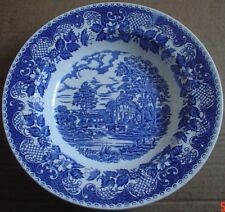 Barratts Staffordshire Blue And White Large Dessert Or Soup Bowl Country Scene