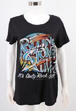 9154ba0c7 Bravado Rolling Stones M Medium Top Womens Black Graphic Tee Shirt
