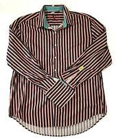 Mens Robert Graham Knowledge Wisdom Truth Long Sleeve 3XL Shirt Flip Cuff