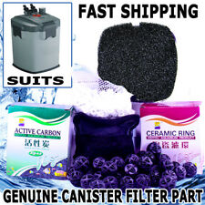 1200LPH Aqua Aquarium External Canister Filter MEDIA KIT Sponge, Carbon, Noodles