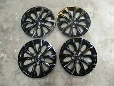 """Set of 4 New Camry 2015 15 2016 16 Hubcaps 16"""" Wheel Covers Black 61175"""