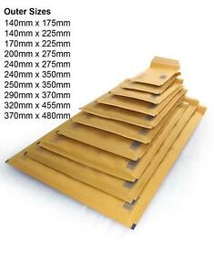 Padded Bubble Envelopes Brown Gold Secure Waterproof Strong Mailing Postal Bags