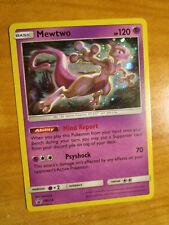 Nm Pokemon Mewtwo Card Black Star Promo Set Sm214 Holo Hidden Fates Pin Box