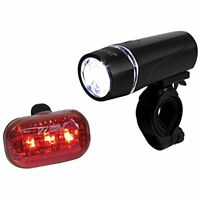 BV Bicycle Light Set Super Bright 5 LED Headlight, 3 Taillight Quick-Release
