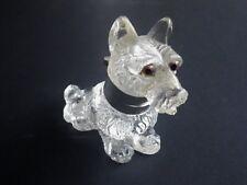 c1886 Victorian Scottie Dog / West Highland Terrier Glass Inkwell Glass Eyes C92