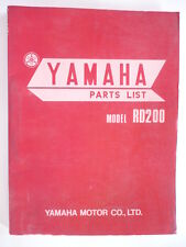 manuel pieces detachées moto YAMAHA RD 200 TWINS  1973 PARTS-LIST