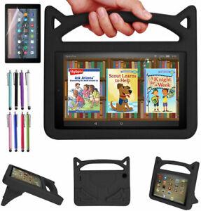 "Kids EVA Foam Stand Case Protective Cover For Amazon Fire 7"" HD10 11th Gen 2021"