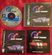 Gran Turismo Ps1 Playstation 1 Black Label Complete Both Books ! Excellent!
