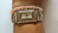 GENEVA PLATINUM WATCH WOMEN ROSE GOLD BANGLE BRACELET EXPANDABLE + Free Bracelet
