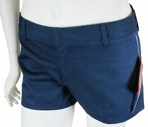 New VTG 90s DICKIES GIRL Womens Twill SHORT SHORTS Size 6 Navy Made In USA ! NWT