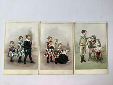 Cartes anciennes : jeux d'enfants