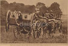 British Army Artillery 1918 Horses World War 1 6x4 Inch Reprint Photo R