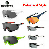 ROCKBROS Cycling Sunglasses Polarized Bicycle Sports Glasses UV400 Bike Goggles