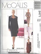 McCalls Sewing Pattern # 2471 Misses Dress Jacket and Skirt Size 22-24-26